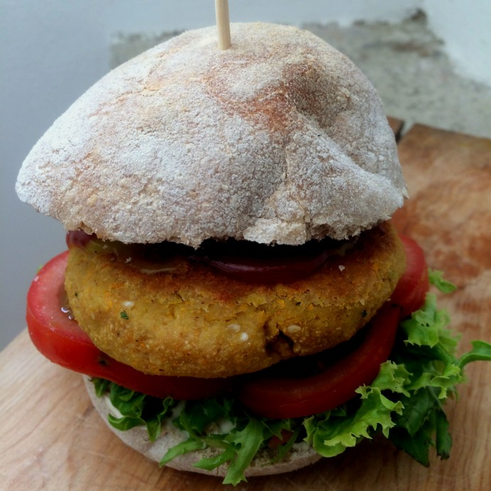 Veggie burger for summer holidays